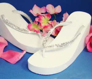 wedding flip flops