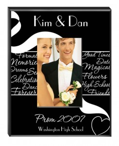 Personalize this gorgeous prom photo frame and save the memories forever!