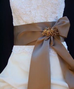 Bridal Sash, Wedding Dress Sash