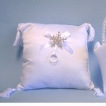 Snowflake Ring Bear Pillow