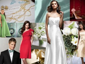 Wedding Color Inspiration, Mix Colors