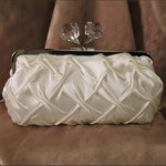 Ivory Quilted Clutch