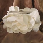 Satin Rose Bridal Clutch
