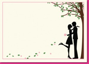 Pink Petal Couple Wedding Invitations