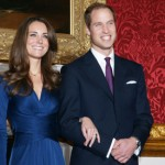 Prince William of Wales with his future princess, Catherine Middleton