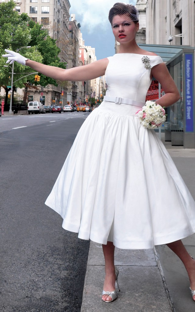 Fancy New York 39s collection of vintageinspired wedding dresses will make