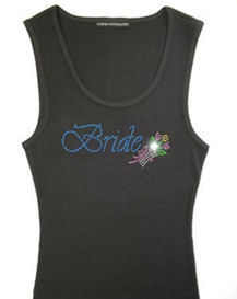 Bride Tank Top with New Bouquet Design