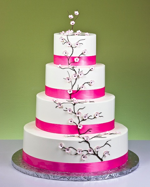 Cherry Blossoms Wedding Cake by Jacques Fine European Pastries