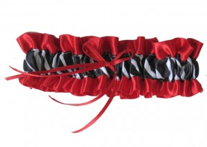 Red Zebra Bridal Garter