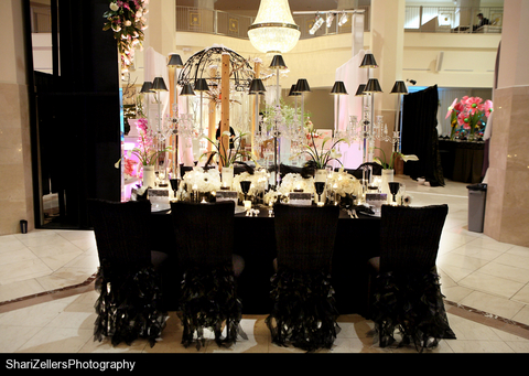 Wedding Reception Theme Luxurious sophisticated dramatic