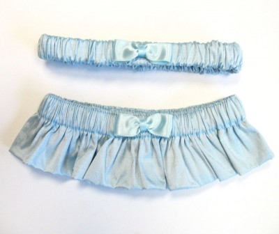 Blue Silk Garter