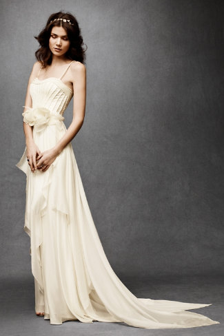 Cascading Goddess Wedding Gown 1600