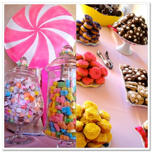 Candy buffet and dessert bars