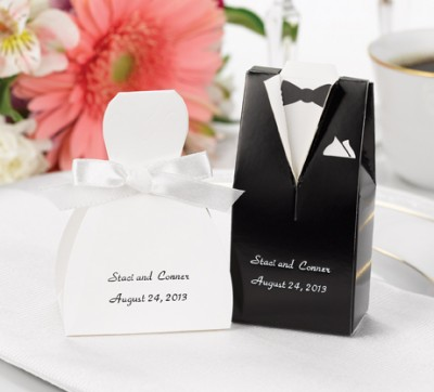Personalized Favors on Personalized Tuxedo Wedding Favors
