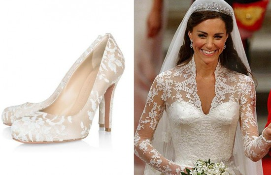 Royal Wedding Bridal Shoes by Alexander McQueen Team