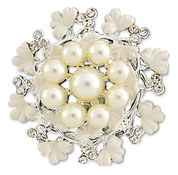 Shoe Jewelry Pearl Rhinestone Shoe Clips 1795