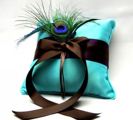 Peacock Ring Bear Pillow