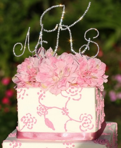 monogram cake toppers for wedding cakes