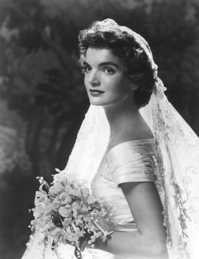 Formal Wedding Portrait of Jacqueline Bouvier Kennedy 1953