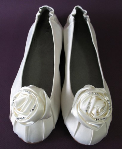 Ivory Bridal Ballet Flats by Dessy Whether you simply don 39t want to tower