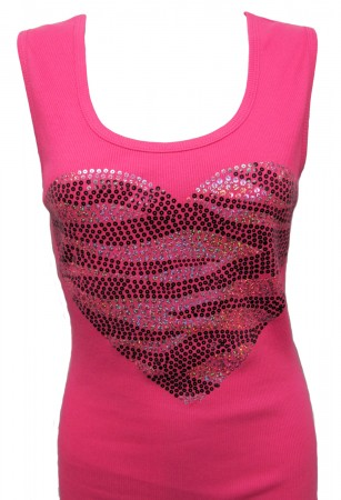 Zebra Print Heart Tank Top 24