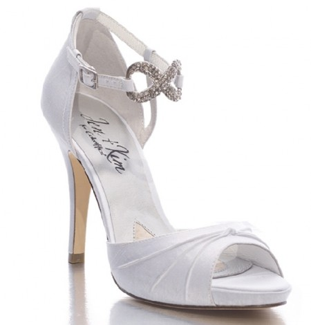 white bridal sandals devote white wedding heels by
