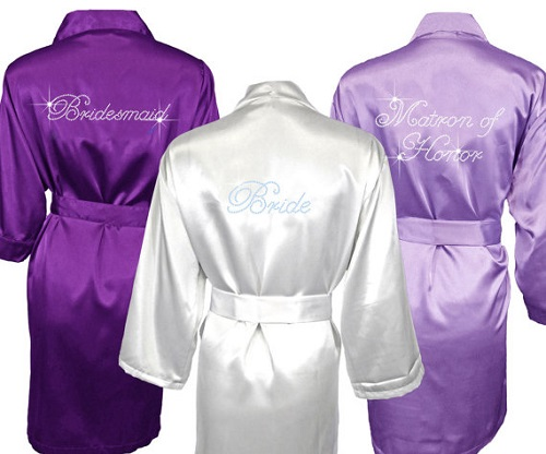 Satin and Rhinestone Robe