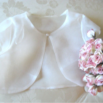 Flower Girl Jacket in White