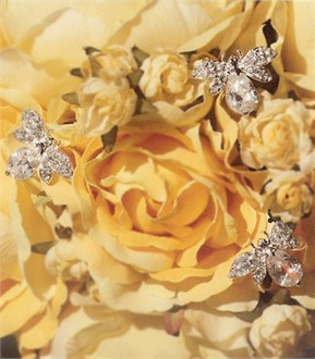 Crystal Bumble Bee Bouquet Jewelry by Bel Aire Bridal