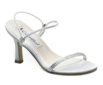 Echo Bridal Shoes in Silver