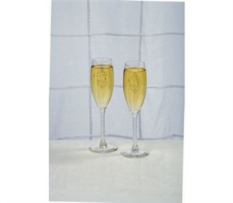 25th Anniversary Toasting Glasses