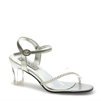 Silver Evening Shoes - Carmella by Touch Ups