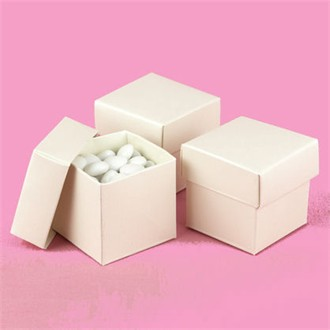 2 Inch Cube Ivory Favor Boxes