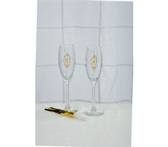 50th Anniversary Toasting Glasses