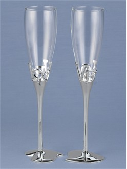 Wedding Toasting Flutes - In Love Toasting Flutes