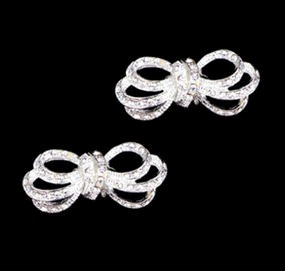 Special Collection Rhinestone Bow Shoe Clips - Unavailable until 6/1/2013