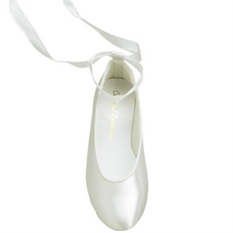 Adult Satin Ballet Slipper with Ribbon Tie