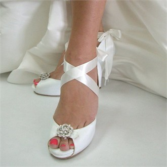 Starletta Dyeable Wedding Shoes by Angela Nuran