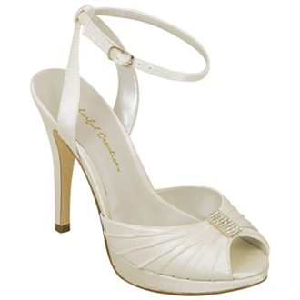 Ashley Ivory Wedding Shoes by Colorful Creations