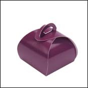Single Truffle Favor Box in Aubergine
