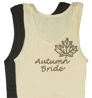 Autumn Bride Rhinestone Tee or Tank