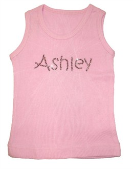 Custom Rhinestone Tank for Girls