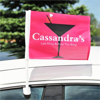 Cosmopolitan Bachelorette Party Car Flag