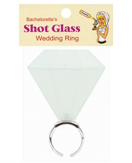 Bachelorette Party Diamond Ring Shot Glass