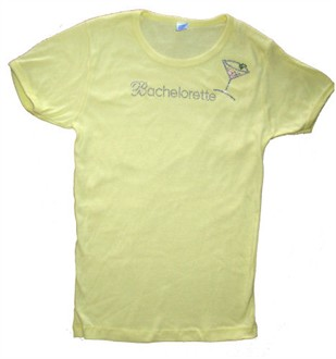 Bachelorette Cosmo Tee - Yellow Medium
