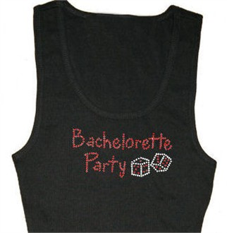 Rhinestone Bachelorette Party Tank or Tee with Dice