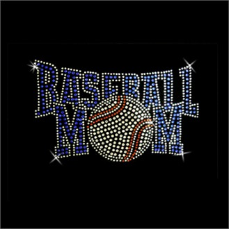 Baseball Mom Rhinestone Design Transfer