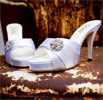 Bliss Bridal Shoes Trulli - White Satin Wedding Shoes
