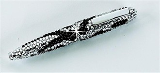 Black and White Crystal Pen