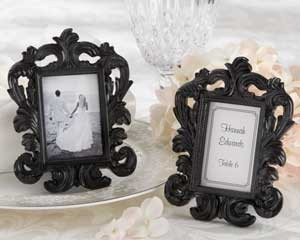 Black Baroque Photo Frame - Place Card Holders